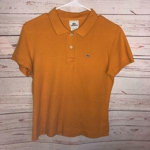 Lacoste Butterscotch Orange Polo Size 44 / M